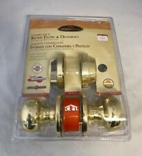 Design House 754929 Cambridge Single Cylinder Keyed Entry and Deadbolt Combo Pk.