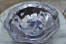 "Brand New Lenox Large Aluminum Punch / Salad Bowl - Leaf Design - 13.5"""