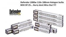 Defender 110v 1000w Replacement Halogen Bulbs 188mm BOX of 25
