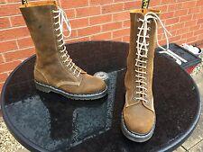 Vintage Dr Martens 1914 brown suede boots UK 8 EU 42 skin 1914 England pascal