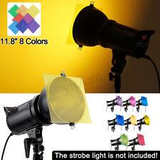 "12"" 8-Color Gel Lighting Filter For Strobe Light Photography Flash Studio Kit"