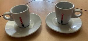 Kimbo Espresso Cups &  Saucers - 2.5 Fl Oz Lot Of 2 (4 Piece Set)