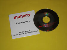 "RARE CD  PROMO MANERO ""LA MAMA"" ""AZNAVOUR"" SUR TFI"