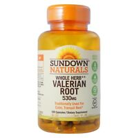 Sundown Valerian Root 530 mg Capsules 100 Capsules (Pack of 2)