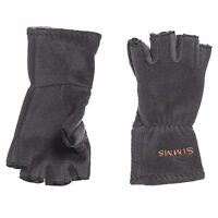 Simms Fly Fishing Freestone Fingerless Half Finger Gloves - Cold Weather - Black