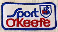 Vintage 70s SPORT OKEEFE Canadian Beer Brewery Embroidered Patch Sew On Uniform