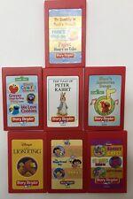 Story Reader Cassette Cartridge Lot of 7 Dora Elmo Pooh Lion Peter Rabbit Barney