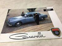 Renault Caravelle 1957 catalogue prospectus brochure dépliant publicité vente