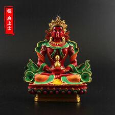 Tibetan Buddhism Hand painting resin statue Car decoration Amitayus Buddha A2
