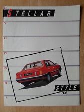 HYUNDAI STELLAR 1.6 1987 UK Mkt sales brochure