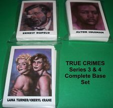 TRUE CRIMES Series II ( cards of series 3+4 ) - TRADING CARDS  COMPLETE BASE SET