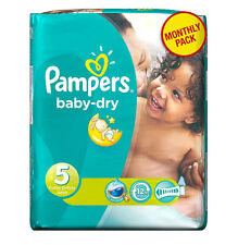 Pampers Baby Dry Nappies Size 5 Junior (11-25 kg) - 144 Pack