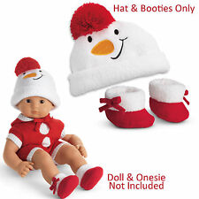 "American Girl  BITTY BABY SNOWGIRL HAT & BOOTIES SET for 15"" Baby Doll NEW"