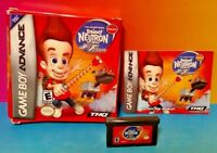 Jimmy Neutron Jet Fusion - Game Boy Advance - Complete Box Tested Nintendo