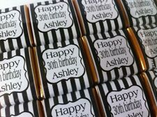 30 x Personalised Mint Chocolate Party Favour Birthday Wedding Candy Stripe