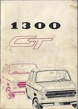 AUSTIN  MORRIS 1300 GT Betriebsanleitung 1971 Bedienungsanleitung Handbuch BA