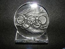 Lalique Crystal 1992 Albertville Olympic Winter Games 5 Rings Keepsake Weight