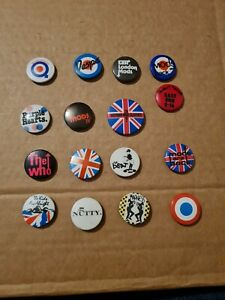 Retro Original Mods Madness The Beat The Who Button Badges