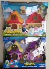 Jakks Pacific Smurfette and Papa Smurf Mushroom House 2009 NEW