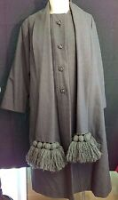 Genuine 50s Mid Century Mod Vintage Gray Townley Annis Wool Coat XL Extra Large