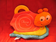CHICCO SNAIL BABY COMFORTER SOFT SNUGGLE BLANKIE WITH TEETHER & CRINKLE SOUND
