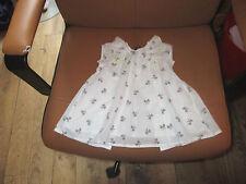 robe jean bourget 3 mois doublee etat parfait blanche avec des noeuds aerienne