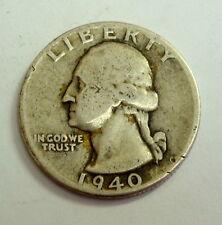 1940 Silver Washington Quarter Collectable Coin