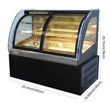 Brand New Arc Glass Countertop Refrigerated Cake Showcase 220V Powered Showcase