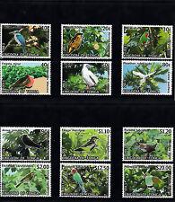 Tonga 2013 MNH Birds Definitives Part 2 12v Set Trees Flora Kingfisher