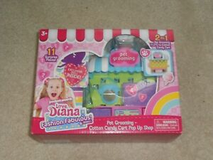 NEW, Love Diana Pet Grooming Cotton Candy Cart 2 In 1 Pop Up Shop, SERIES 1
