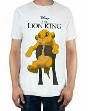 Disney Le Roi Lion Simba Cub Circle Of Life Tee shirt Blanc Homme