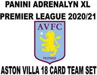 Panini Premier League 2020/21 Adrenalyn XL ASTON VILLA 18 Card Team set