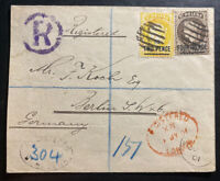 1901 St Helena Registered Cover To Berlin Germany SG#43