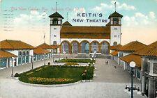 View of Keith's New Theatre, New Garden Pier, Atlantic City NJ Advertising 1916