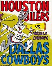 1972 GAME PROGRAM PHOTO HOUSTON OILERS VS WORLD CHAMPS , DALLAS COWBOYS 8x10
