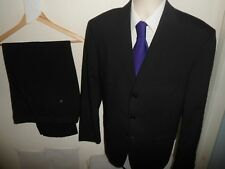 JAMES BARRY Mens Suit 2 Piece Black Single Breasted Wool Blend SIZE 42S W34 L28