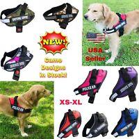 Service Dog Puppy Harness Soft Vest Adjustable Reflective No Choke Pull S M L XL