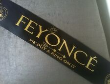 Feyonce Beyoncé Engagement Party Sash Hen Party Black Sash Fiancé