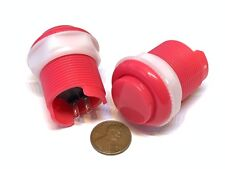 2 Piece Pink Arcade momentary PUSH BUTTON SWITCH DC N/O normally open on/off C16