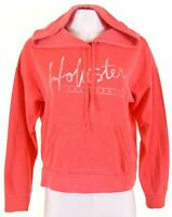 HOLLISTER Womens Hoodie Jumper Size 16 Large Pink Cotton  LO07