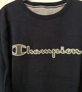 Champion Mens Big Tall LOGO Sweatshirt Athletic Top Retro Pullover 2X 3X 4X 5X