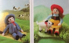 KNITTING PATTERN Jean Greenhowe Knit a Nursery Rhyme Miss Muffet Boy Blue 3 Toys