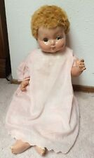 "Vintage 24"" Effanbee Sweetie Pie 1940s Flirty Eyes Composition /Cloth Body"