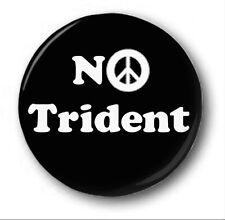 SIN TRIDENTE 2.5cm/25mm Botón Insignia Mono Novedad Corbyn Manifestación Nuclear