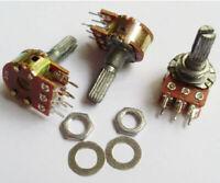 2pcs C100K 100K Dual Stereo Potentiometer Log Taper pots