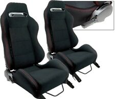 2 Black & Red Stitch Racing Seats RECLINABLE BMW NEW **