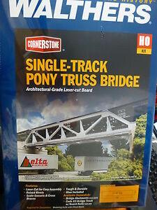 Walthers Cornerstone HO #4030 Single-Track Pony Truss Bridge -- Laser-Cut Kit -