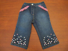 NWT GYMBOREE Tres Chic Embroidered Heart Jeans Sz 12 18 M