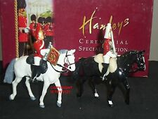 BRITAINS 40212 HAMLEYS LIFEGUARD TROOPERS MOUNTED METAL TOY SOLDIER FIGURE SET