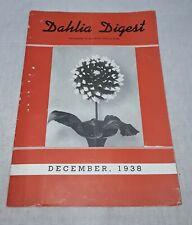 DAHLIA DIGEST MAGAZINE DECEMBER 1938